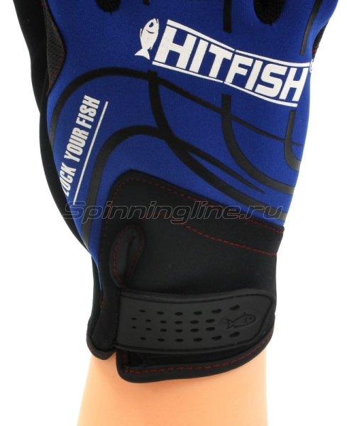 Перчатки Hitfish Glove-05 L синий -  2