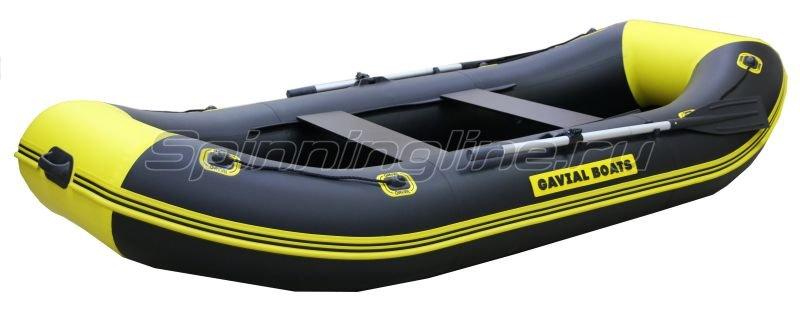 Лодка ПВХ Gavial Lux 300 Слань Elegant желтый/черный -  1