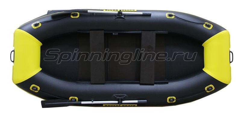 Лодка ПВХ Gavial Lux 300 Слань Elegant желтый/черный -  6