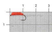 Мормышка летняя Левша-НН Ручейник Caddis №1 d2.2 красный