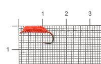 Мормышка летняя Левша-НН Ручейник Caddis №2 d2.5 красный