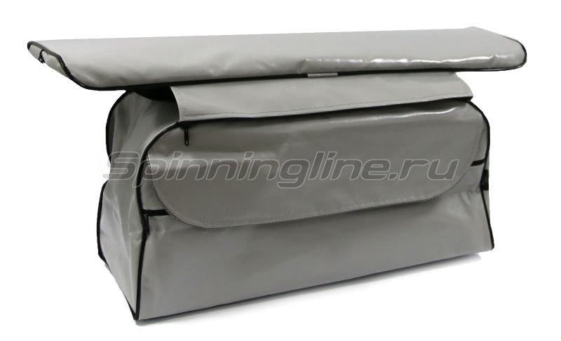 Накладка на сиденье Патриот 65см мягкая сидушка + сидушка с сумкой ПВХ -  1