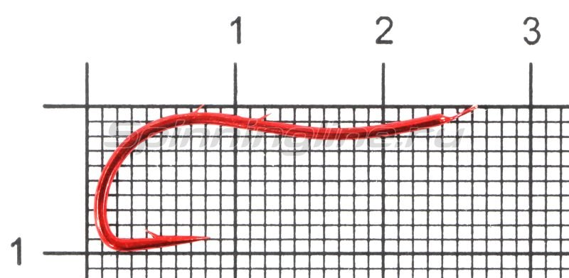 Крючок W-Kentuki Ryusen Flatted Red №14 -  1