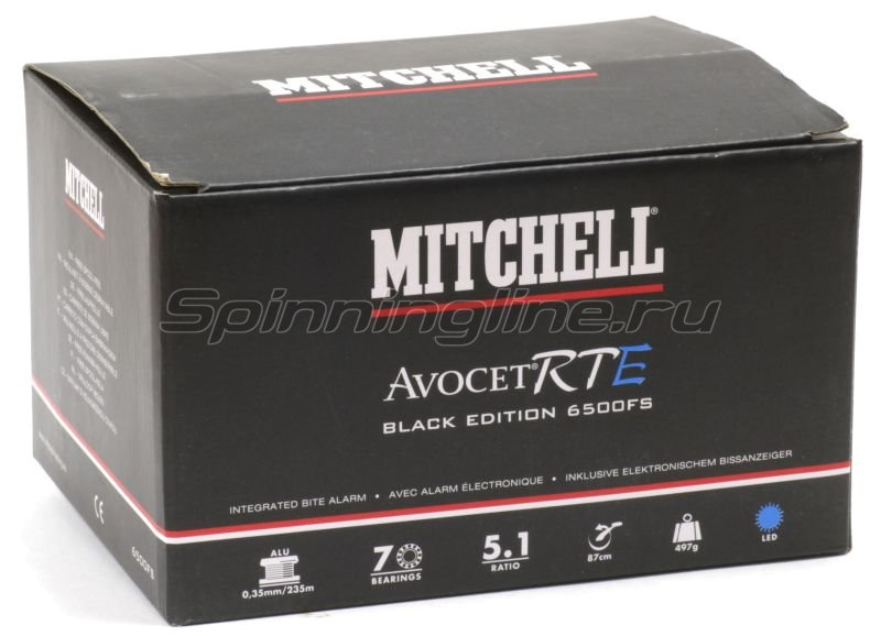 Катушка Mitchell Avocet FS 6500 RTE Black Red Edition -  6