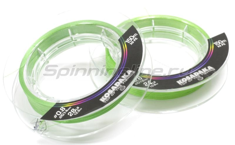 Шнур Kosadaka Super Line PE X9 150м 0,12мм Light Green -  1