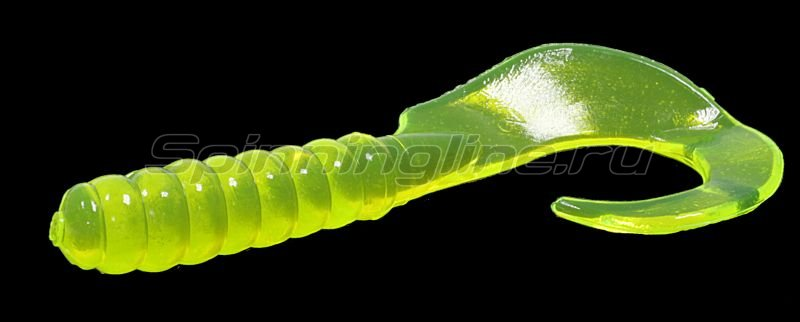 "Приманка Yum Walleye Grub F2 4"" Chartreuse -  1"