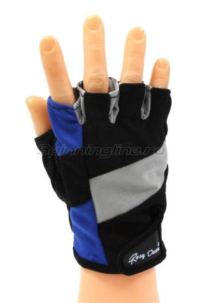 Перчатки спиннингиста Rosy Dawn без пальцев синий -  1