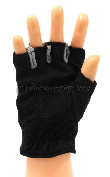 Перчатки спиннингиста Rosy Dawn без пальцев синий -  2
