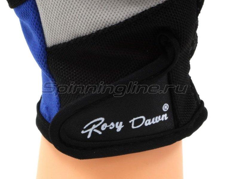Перчатки спиннингиста Rosy Dawn без пальцев синий -  3