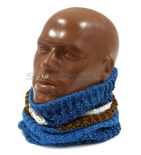 Шарф Buff Knitted&Polar Neckwarmer Teal Blue -  1