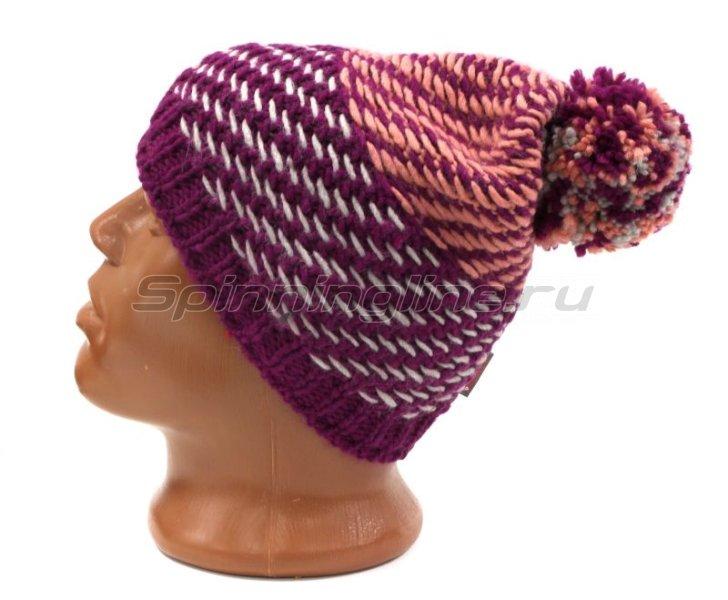 Шапка Buff Knitted&Polar Hat Nella Purple Raspebrry -  2