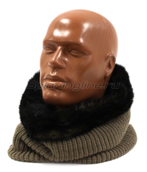 Шарф Buff Knitted Collar Adalwolf Brown Taupe -  1