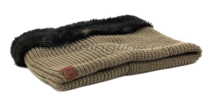 Шарф Buff Knitted Collar Adalwolf Brown Taupe -  2
