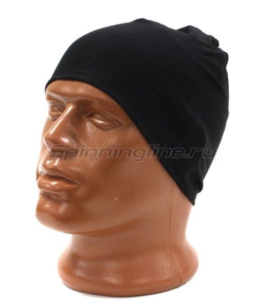 Шапка Buff Microfiber Reversible Hat R-Solid Black -  3