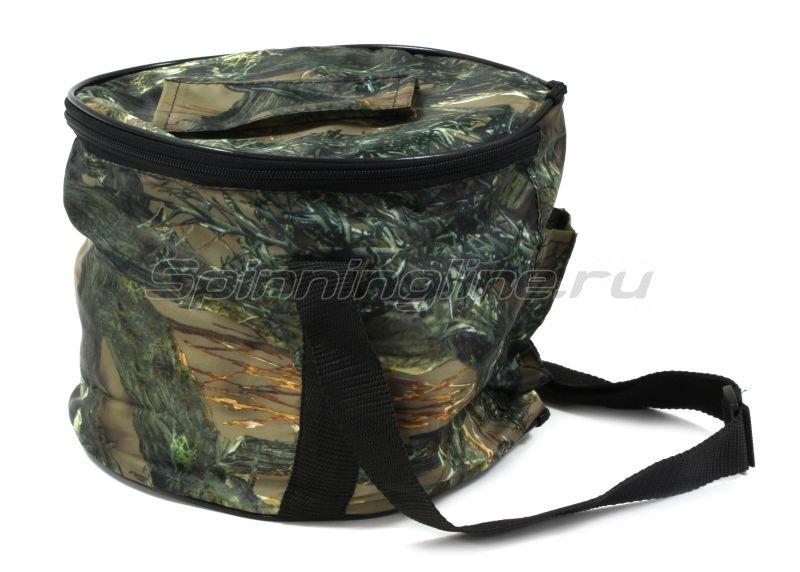 Набор жерлиц Три Кита с угловой стойкой в сумке с черной катушкой d85-90мм -  4