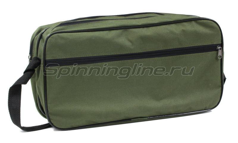 Набор жерлиц Три Кита угловой стойкой в сумке Щукарь с черной катушкой d60-65мм -  4
