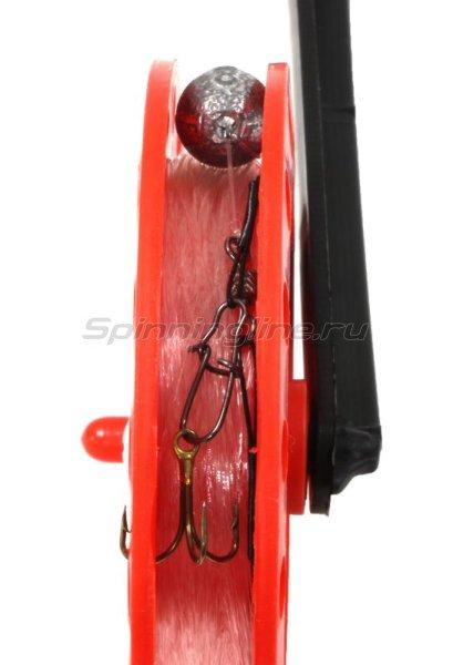 Набор жерлиц Три Кита с угловой стойкой в сумке с цветными катушками d85-90мм -  4