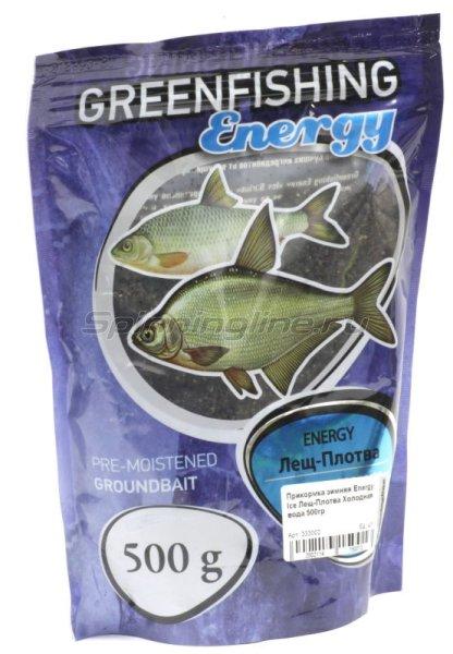 Прикормка зимняя Greenfishing Energy Ice Лещ-Плотва Холодная вода 500гр -  1