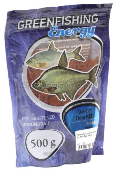 Прикормка зимняя Greenfishing Energy Ice Лещ Red 500гр -  1