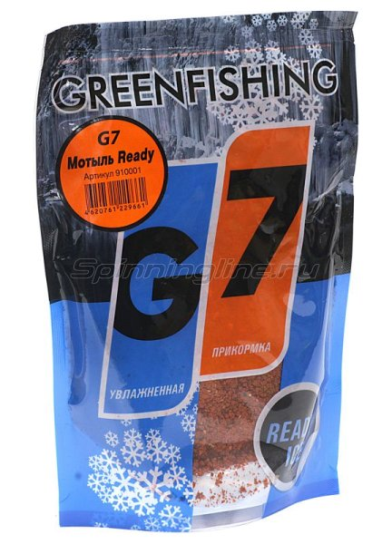 Прикормка зимняя Greenfishing G-7 Ice Мотыль Ready 350гр -  1