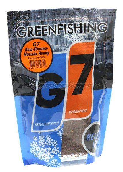 Прикормка зимняя Greenfishing G-7 Ice Лещ-Плотва Мотыль Ready 350гр -  1