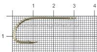 Крючок Gurza E-Plain Shank №1 Bz