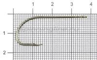 Крючок Gurza E-Plain Shank №2/0 Bz