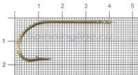 Крючок Gurza E-Plain Shank №3/0 Bz