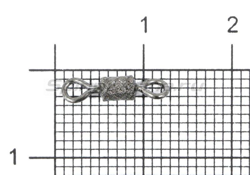 Вертлюг с насечкой Gurza Rolling Ribbed Swivel BN №6 -  1
