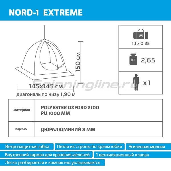 Палатка-зонт зимняя Helios Nord 1 Extreme -  11