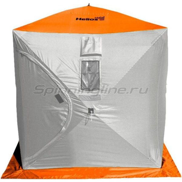 Палатка зимняя Helios Куб 1,5*1,5 Orange Lumi/Grey -  1