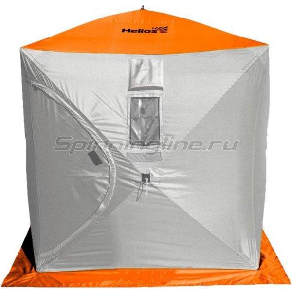 Палатка зимняя Helios Куб 1,8*1,8 Orange Lumi/Grey -  1
