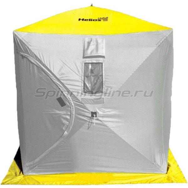 Палатка зимняя Helios Куб 1,5*1,5 Yellow/Grey -  1