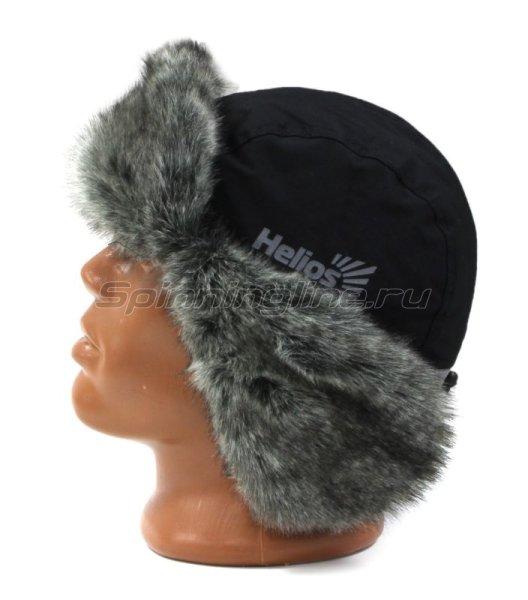 Шапка-ушанка Helios Skif XL черный/серый -  3