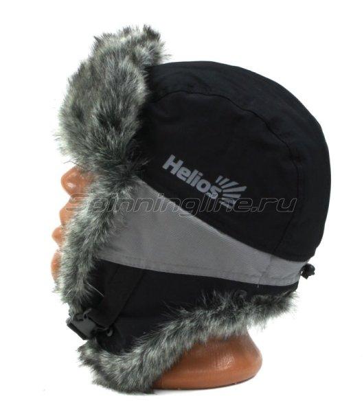 Шапка-ушанка Helios Skif XL черный/серый -  7