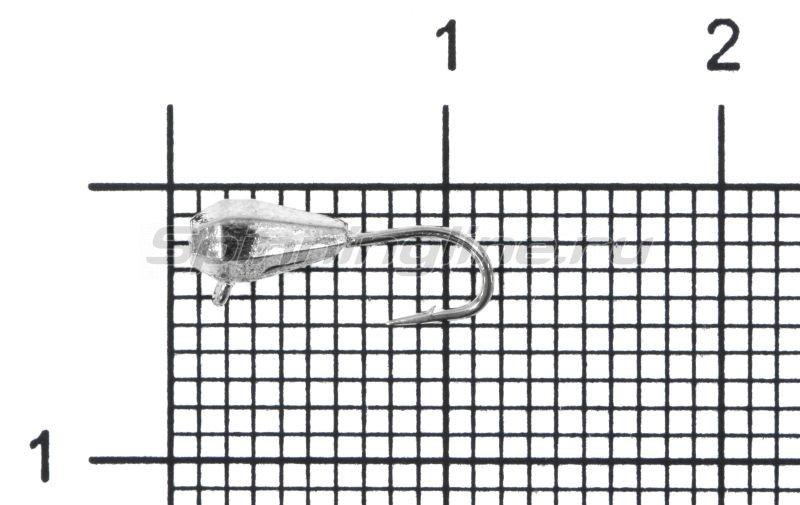 Мормышка Nord Water's Капля грань вертикальная d3 NI -  1