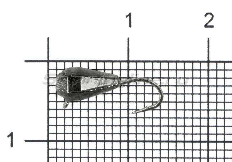 Мормышка Nord Water's Капля грань вертикальная d4 BN -  1