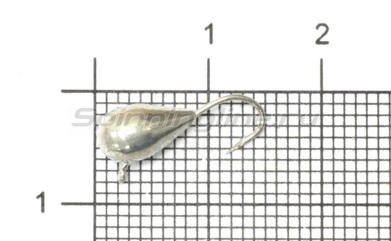 Мормышка Рыболов-Олта Капля с ушком d5 серебро -  1