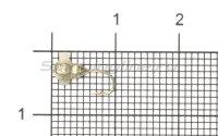 Мормышка Рыболов-Олта Личинка с отверстием и кембриком d3 серебро