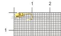 Мормышка Рыболов-Олта Личинка с отверстием и кембриком d3 золото