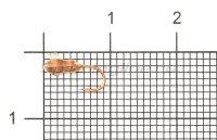 Мормышка Рыболов-Олта Личинка с отверстием и кембриком d3 медь