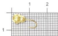 Мормышка Рыболов-Олта Личинка с отверстием и кембриком d5 золото