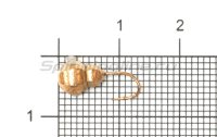 Мормышка Рыболов-Олта Личинка с отверстием и кембриком d5 медь