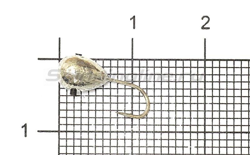 Мормышка Рыболов-Олта Капля с отверстием d5 серебро -  1