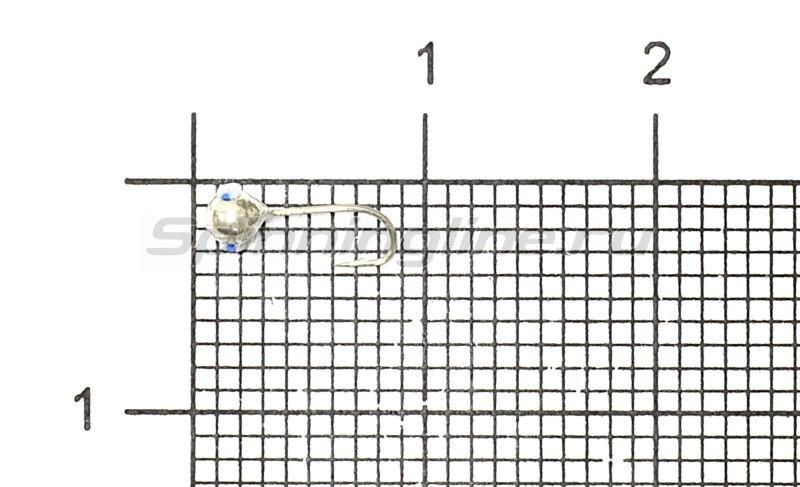 Мормышка Рыболов-Олта Шар с отверстием и кембриком d2.5 серебро -  1