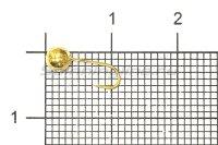 Мормышка Рыболов Шар с отверстием и кембриком d4 золото