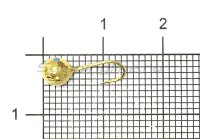 Мормышка Рыболов Шар с отверстием и кембриком d5 золото