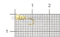 Мормышка Рыболов Личинка с отверстием d3 золото