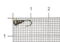 Мормышка Рыболов Личинка с отверстием d3 черный