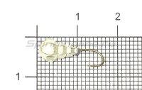 Мормышка Рыболов-Олта Личинка с отверстием d5 серебро